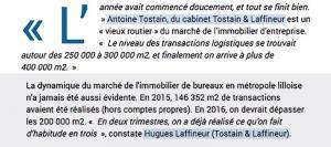 Immobilier d'entreprise : 1 000 000 m2 d'entrepôts prêts à décoller et une nouvelle dynamique du marché de l'immobilier de bureaux en Métropole Lilloise