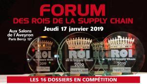 Le Forum des Rois de la Supply Chain aura lieu le 17 janvier aux Salons de l'Aveyron
