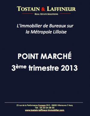 Bureaux Lille : point marché 3ème trimestre 2013