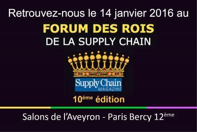 Entrepôt Lille : Tostain et Laffineur participe au Forum des Rois de la Supply Chain 2016