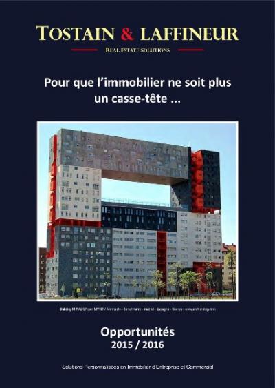 Immobilier d'entreprise : Les Cahiers Tostain & Laffineur sont arrivés