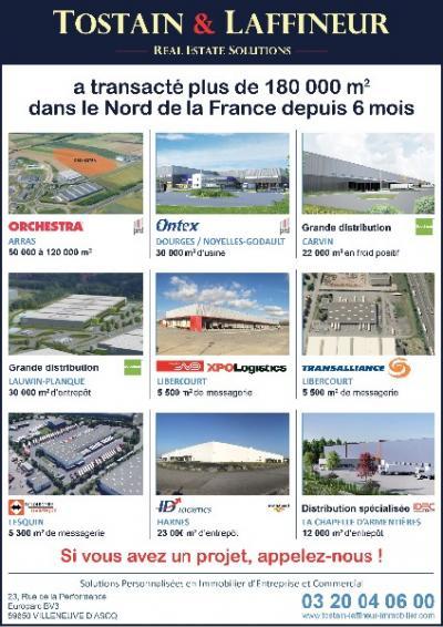 Entrepôt Lille : premier semestre 2015 prometteur chez Tostain et Laffineur