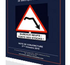 NOTE DE CONJONCTURE BUREAUX DU 3éme TRIMESTRE 2010 : « LILLE IMMOBILIER DE BUREAUX : BUREAUX NEUFS : FONTE DE STOCKS ! »
