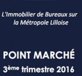 Etude de marché Bureaux Lille - 3eme trimestre 2016