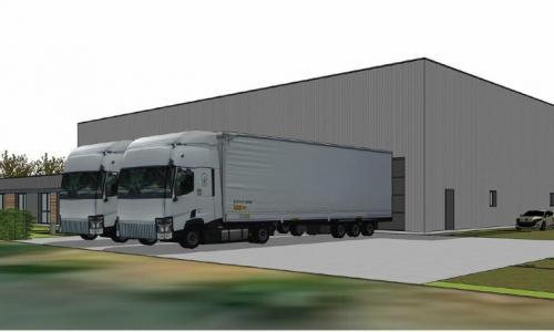 Entrepôt en location d'une superficie de 1 800 m2, secteur Carvin - Libercourt