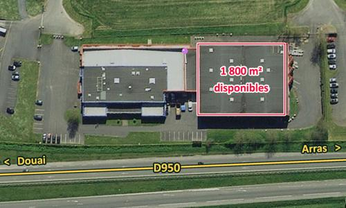 Location entrepôt Douai (Brebières)