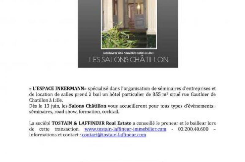 « L'ESPACE INKERMANN » S'ÉTEND RUE GAUTHIER CHÂTILLON À LILLE (59)